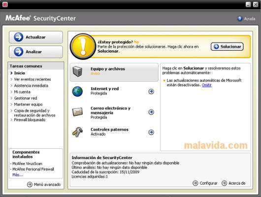 McAfee 400 000 virus definitions by 2008